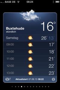 Wettervorhersage für Sonnabend