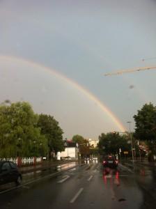 Regenbogen über Buxtehude