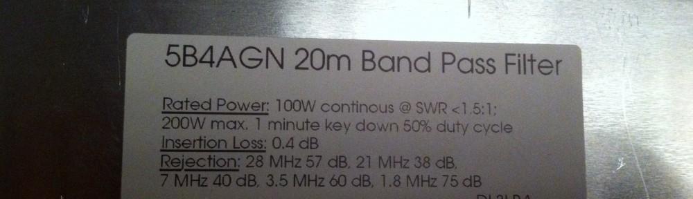 5B4AGN 20m Band Pass Filter