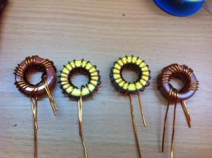 Ringkerne L2a und L2b (gelb) verkehrt herum bewickelt