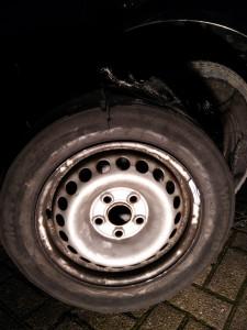 Reifen und Felge kaputt