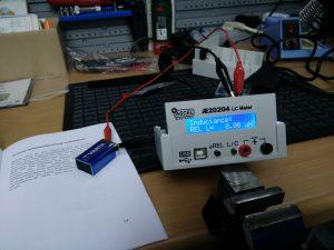 Funktionstest am LC-Meter - sieht gut aus!