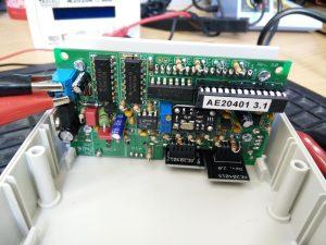 Funktionstest der bestückten Frequenzzählerplatine