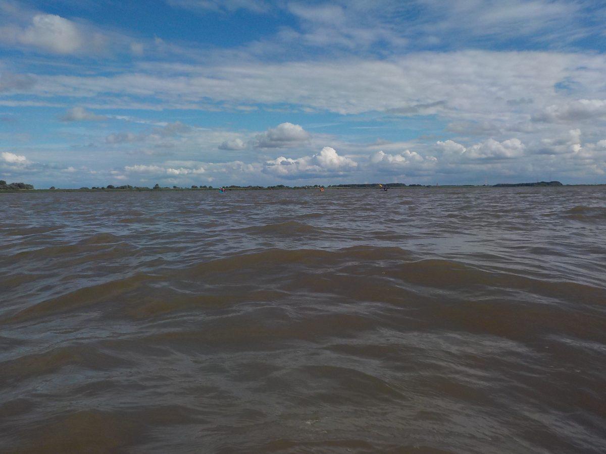 Paddeln auf der Elbe