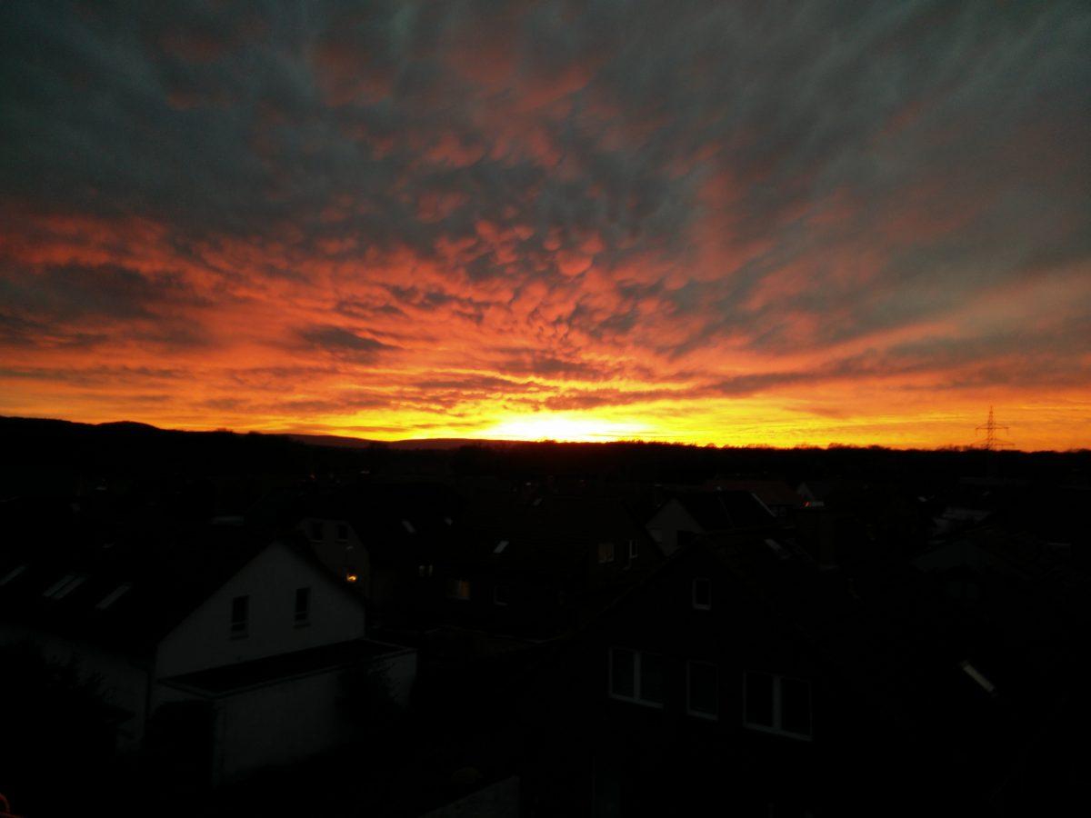 Sonnenuntergang in Velber