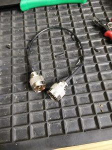 RG174-Kabel zur Fensterdurchführung
